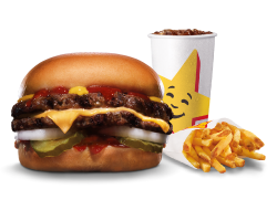 Combo, Deals, Hardees, Classic Double Cheeseburger Combo